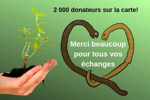 Plus 2 Vers passe la barre des 2000 donateurs de vers inscrits !